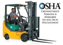 Forklift Certification Training For The Forklift Operator Osha