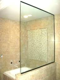 shower glass walls pony wall shower glass half wall shower glass walls thickness block pictures half