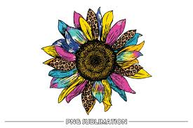Use this lovely, realistic sunflower on all kinds of projects! Colorful Sunflower Sublimation Design Graphic By Fauzideastudio Creative Fabrica