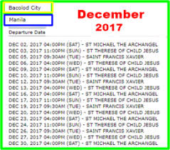 Travel Schedule December 2017 2go Travel Boat Trip Schedule And Ticket Fares To And