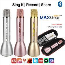 speakers microphone. maxgear karaoke ktv-mic bluetooth-speaker microphone-sing recording on-phone - k歌神器麦克风 | 11street malaysia portable speakers microphone