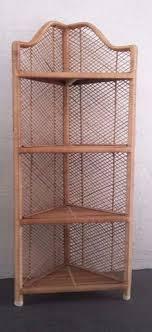 Wicker Corner Shelves Vintage Wicker Rattan Cane Corner Shelf Small Rattan Corner Unit 7