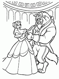 Small Picture Beauty And The Beast Coloring Page Beauty And The Beast Coloring