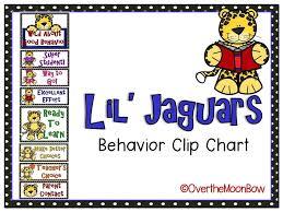 Behaviour Clip Chart Lil Jaguar Themed Behavior Clip Chart