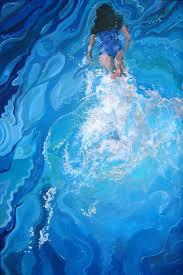 david cuffari artwork the swimmer original painting acrylic abstract figurative art