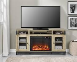 ameriwood furniture marxen fireplace tv stand for tvs up to 65 natural