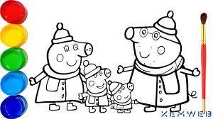 1️⃣ [Mới Share 546+] Tranh tô màu Heo Peppa Pig hoạt hình đáng yêu ™️  XemWeb.info