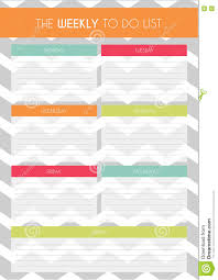 Simple Colorful 'weekly To Do List' Template With Chevron Pattern In ...