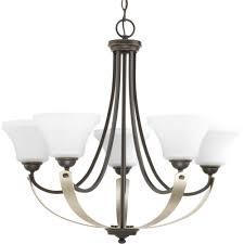 5 lt antique bronze chandelier
