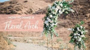 Paper Flower Archway Diy Floral Wedding Arch