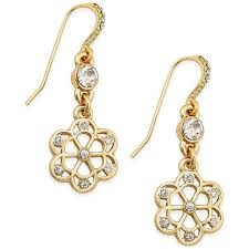charter club women s crystal drop earrings only at macy s