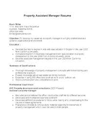Property Management Resume Job Description For Property Manager