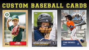 custom baseball cards create your own baseball cards youtube