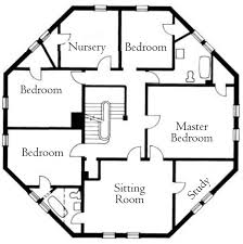 octagon house plans. Second-Floor Plan Octagon House Plans E