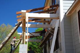 by the time we got there they had already taken a at a ridge board and rafters framing it up in place