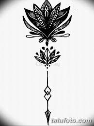 черно белый эскиз тату лотос 09032019 053 Tattoo Sketch