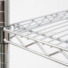 new design supermarket chrome wire shelving kitchen