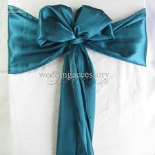 100 teal blue satin chair sash wedding party supply elegant hot crafts decor sat tbu chair covers whole dress belts from weddingaccessory