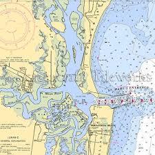 Georgia St Marys Nautical Chart Decor Nautical Chart