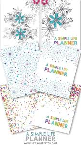 A Simple Life Planner Free Printable Planner The Navage