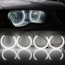 Halo Lights Com Us 57 45 25 Off Led Crystal Angel Eyes Drl Halo Lights For Bmw E46 E90 E91m3 E36 E38 E39 Halogen Xenon Projector Headlight Accessories Tuning In Car