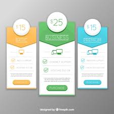 Free Banners Design Of Web Different Plans Flat Vector Download In