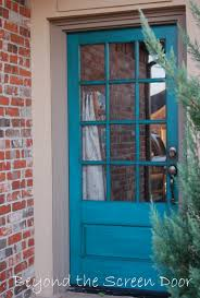 Turquoise front door Glaze But This Past Week Was Able To Help Kristi Reader Of Beyond The Screen Door Achieve Her Own Turquoise Front Door Sonya Hamilton Designs More Turquoise Front Doors Sonya Hamilton Designs