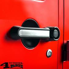door handle inserts alu brushed wrangler jk year 07 18 2 doors