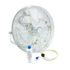 wall mounted outdoor misting fans o oscillating pedestal misting fan o high velocity o with mid