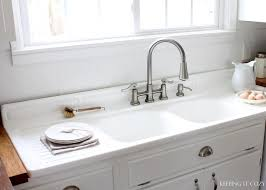 image of drainboard sink faucet