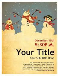 christmas event flyer template snowman christmas flyer template flyer templates