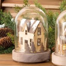 Lighted Glass Cloche Amazon Com Park Hill Collection 7 5 In Lighted Gabled