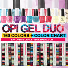 Opi Dip Powder Color Chart Opi Gel Duo Matching Color Combo 160 Colors Free Opi Color Chart