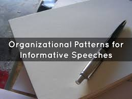 Topical Organizational Pattern Simple Organizational Patterns For Informative Speeches By