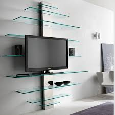 Luxury Glass Tv Shelves Wall Mount 71 For Your Wall Mounted Glass With  Regard To Wall