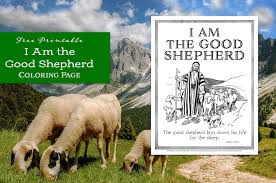 Jesus is a good shepherd. I Am The Good Shepherd Coloring Page Flanders Family Homelife