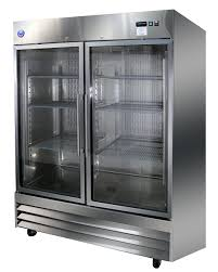 stainless glass door merchandising cooler