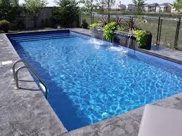 Modern Rectangle Pool Design tropical-pool