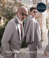 French Connection Slim Fit Black Suit