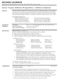 Resume Template Software Software Resume Template Information Fresher Software Engineer
