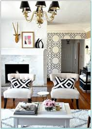 black white accent chairs living room