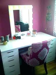 white makeup vanity table black desk um size of set w bench