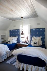 sea themed bedroom. Interesting Bedroom Small Beachthemed Shared Attic Room With Weathered Wood Boards On The  Ceiling Throughout Sea Themed Bedroom H