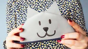 kitty cat cosmetic bag