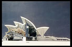 jorn utzon sydney opera house model with section 1957 73 in set