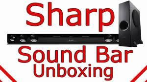 sharp sound bar. sharp sound bar unboxing - ht-sb40