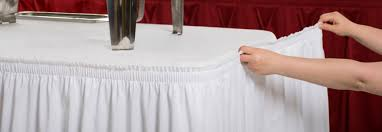 diffe types of table skirting