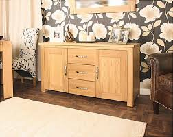 aston oak large sideboard by baumhaus baumhaus aston oak hidden