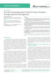 trends in hyperglycemia control in type diabetes through  trends in hyperglycemia control in type 2 diabetes through glycemic management pdf available