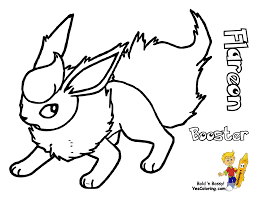Small Picture Pokemon Flareon Coloring Pages Images Pokemon Images inside